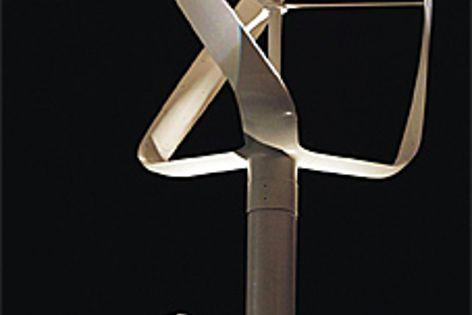 Philippe Starck presents the Revolutionair micro wind turbine he designed.