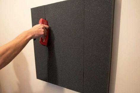 SoundAcoustics' FP600/60 acoustic panels fit neatly behind canvas artworks.