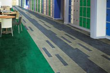 Teles high-resiliency rubber flooring from GEO Flooring