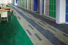 Teles high-resiliency rubber flooring from GEO Flooring