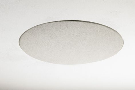 A flush-mount design for a seamless effect which is almost invisible when fitted to a ceiling.