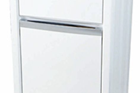 Latest update to the NuGleam laundry unit adds a contemporary polymer cabinet and new chrome handle.