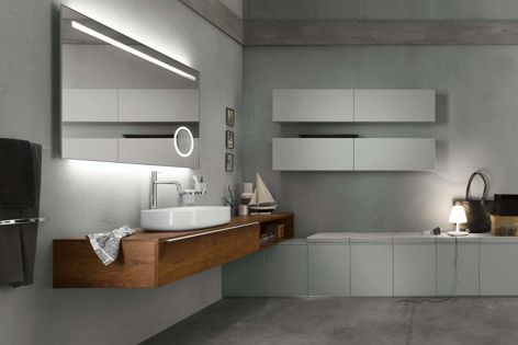 The Progetto range is available in a variety of colours and finishes.