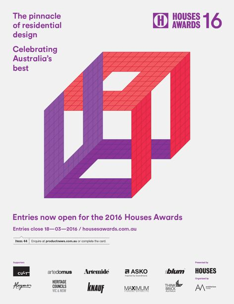 2016 Houses Awards entries open