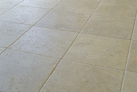 Travertine stone can be used for paving, walling and garden features. Colour: Provincial Cream.
