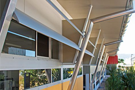 Elipsa louvres have been used at the Cairns TAFE College in North Queensland.