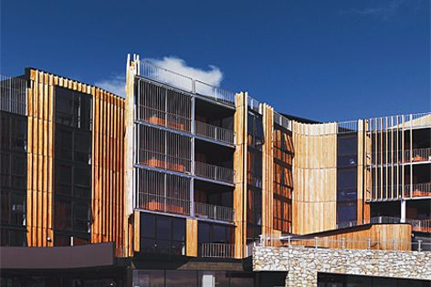 Elenberg Fraser's Quay West Resort and Spa at Falls Creek won the Commercial Exterior category.