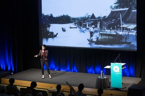 Landprocess CEO Kotchakorn Voraakhom speaking at The Architecture Symposium in 2020, which will be hosted this year on the Design Speaks Virtual Portal.