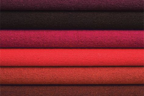 Studio's red range boasts eight bright and contemporary colours made from 100% pure wool.