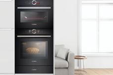 Built-in black glass ovens from Bosch