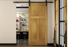 Sliding barn door track system from Cowdroy