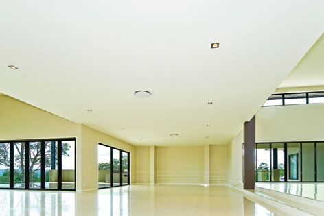 Houses with abundant natural light will benefit from the Level+ plasterboard and compound system.