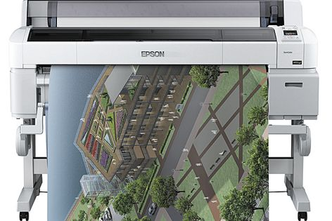 The Epson SureColor SC-T7000 is ideal for CAD, GIS, and architecture and design applications.