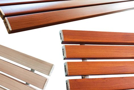 Woodgrain aluminium provides a classic look.