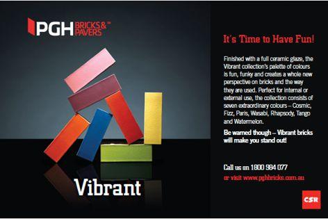 Vibrant bricks by CSR PGH Bricks