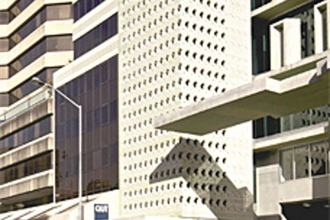 The AM-60 building in Brisbane city has a brick screen made up of 23,000 Bowral bricks.