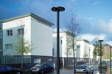 WE-EF's RMC320 post-top luminaire is ideal for use in residential areas.