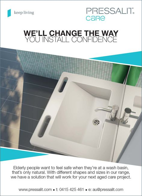 Aged care washbasins from Pressalit