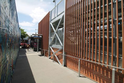 EnviroSlat 60 mm × 40 mm decorative cladding was used to great effect on a station upgrade in Balaclava, Victoria.