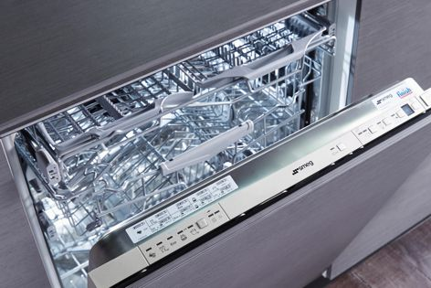 """The dishwasher is extremely quiet; an """"active light"""" shines on the floor when the dishwasher is running."""