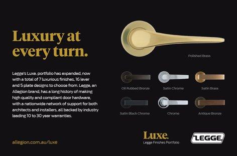 Luxe doorhandles by Legge
