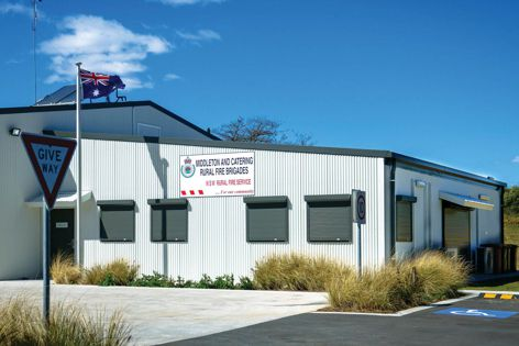 Blockout roller shutters were used at the Middleton and Catering Rural Fire Brigades' station in New South Wales.