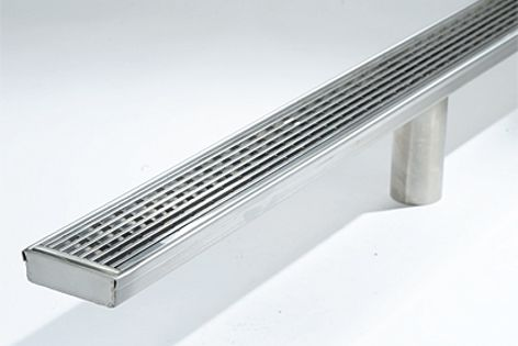 Stormtech's new stainless steel lineal drain unit is fully finished and does not need pre-assembly.