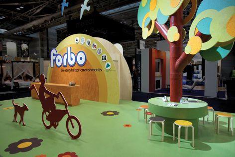 Installation Design winner Forbo Exhibit at Designex by Exponental Design.