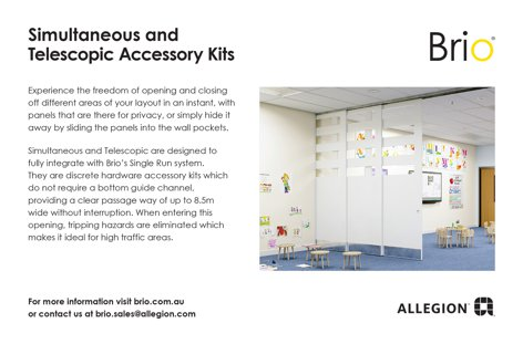 Brio door accessory kits from Allegion
