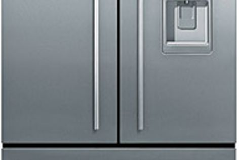 Fisher & Paykel's 790-mm French Door fridge features a clean design aesthetic.