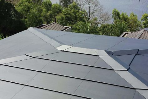 The roofing combines high-performance composite materials with solar technology.