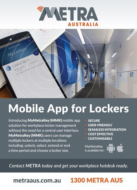 Mobile app for lockers by Metra Australia