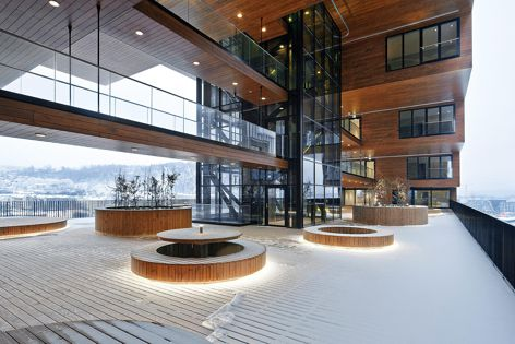 The Carve by A-lab, featuring ProdEX natural wood panels from Prodema.