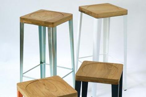 Australian-made WB stool collection, which is inspired by the humble timber chopping board.