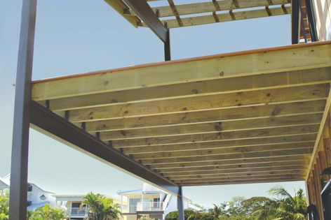 Hyne T3 Green structural timber is non-toxic, making it suitable for frequent-use areas.
