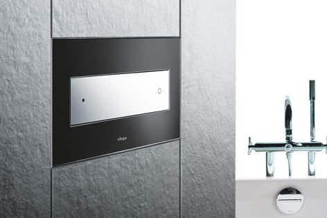 Elegantly designed and precision-engineered in Germany, Viega inwall cistern plates are available in a vast selection of materials, colours and finishes.