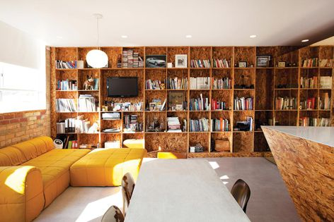 The Cubby House Project by Studio Moore features shelving made from Forest One's sustainable oriented strand board.