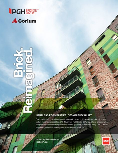 Corium facades by PGH Bricks and Pavers