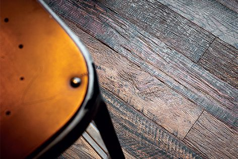 Havwoods' recycled barn oak is 18 mm thick and is available in mixed lengths and widths.