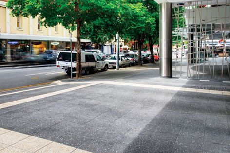 Durable Euro Metro pavers are designed for urban streetscape projects.