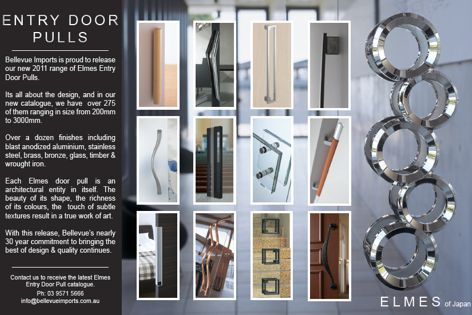 Entry door pulls by Bellevue Imports