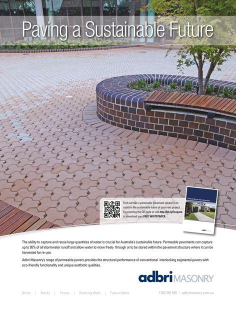 Permeable pavements from Adbri Masonry