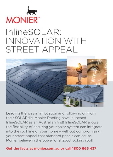 Inline Solar roofing by Monier