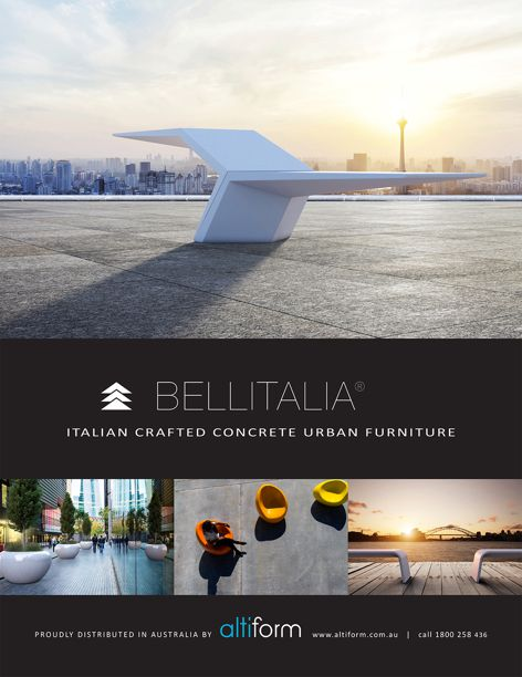 Concrete urban furniture by Bellitalia
