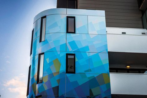 VitraArt custom designs can be applied to either Vitracore G2 or Vitrabond panels, to cover small feature walls or entire facades.