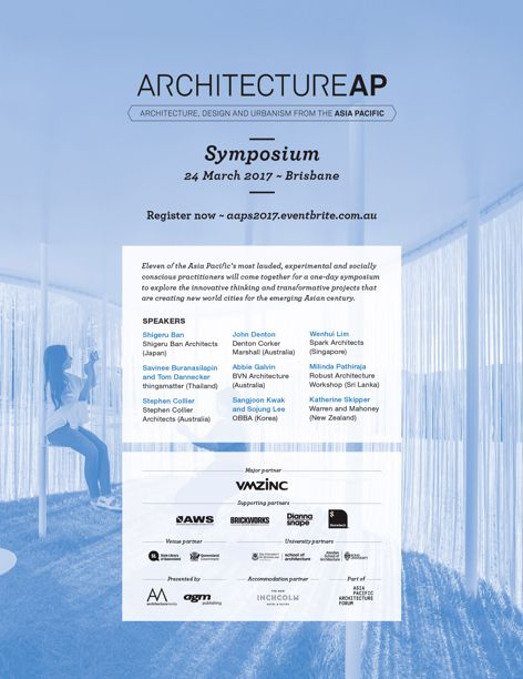 ArchitectureAP Symposium – secure your tickets now