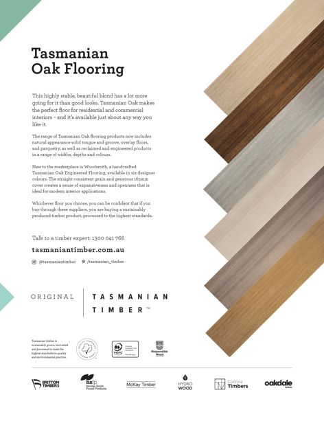 Oak flooring by Tasmanian Timber