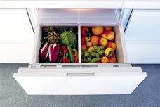Integrated fridge drawers by Sub-Zero