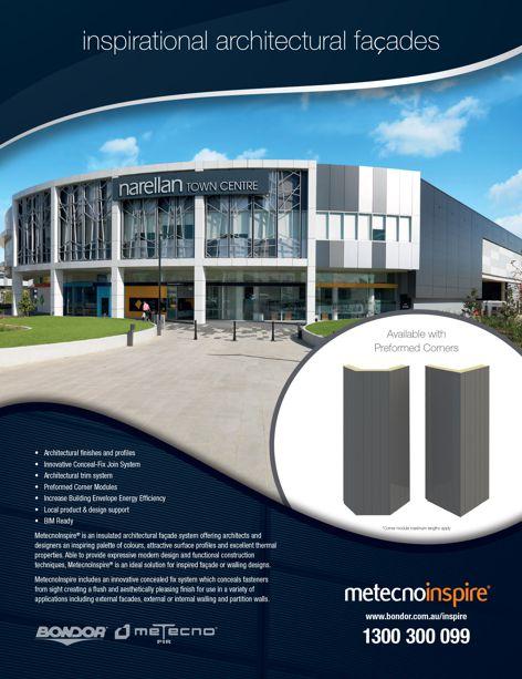 Metecno Inspire facade system by Bondor