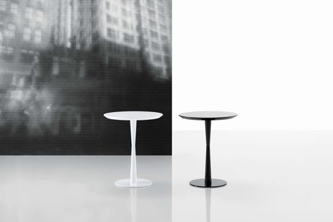 The Flute table and side table (pictured) are available in a variety of colours.
